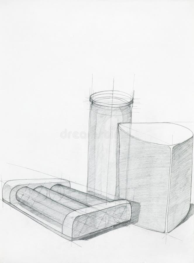 Étude artistique des objets illustration libre de droits