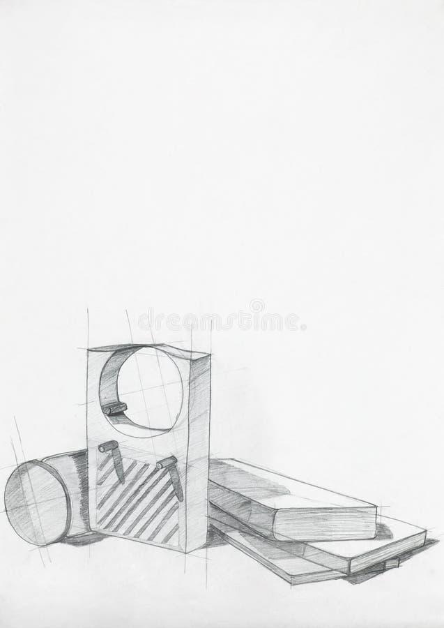 Étude artistique des objets illustration stock