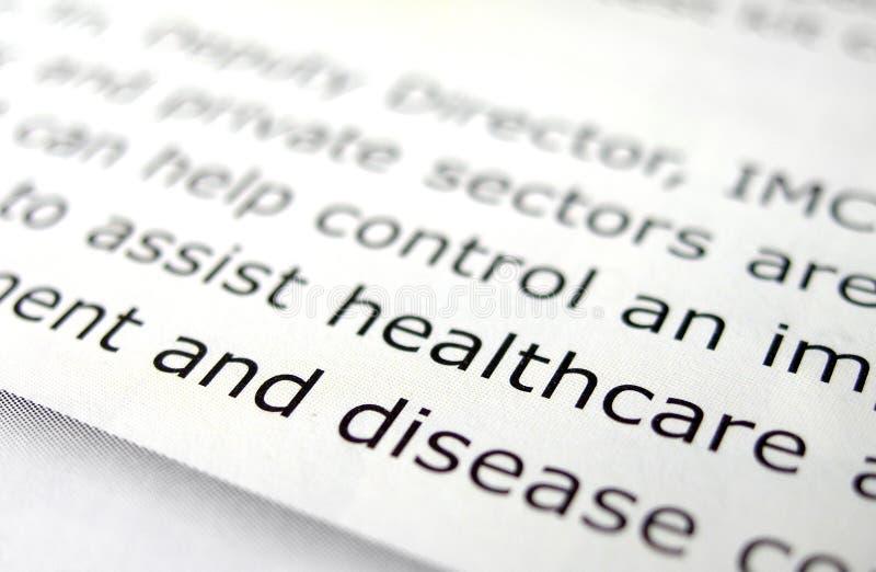Étude au sujet des soins de santé images libres de droits