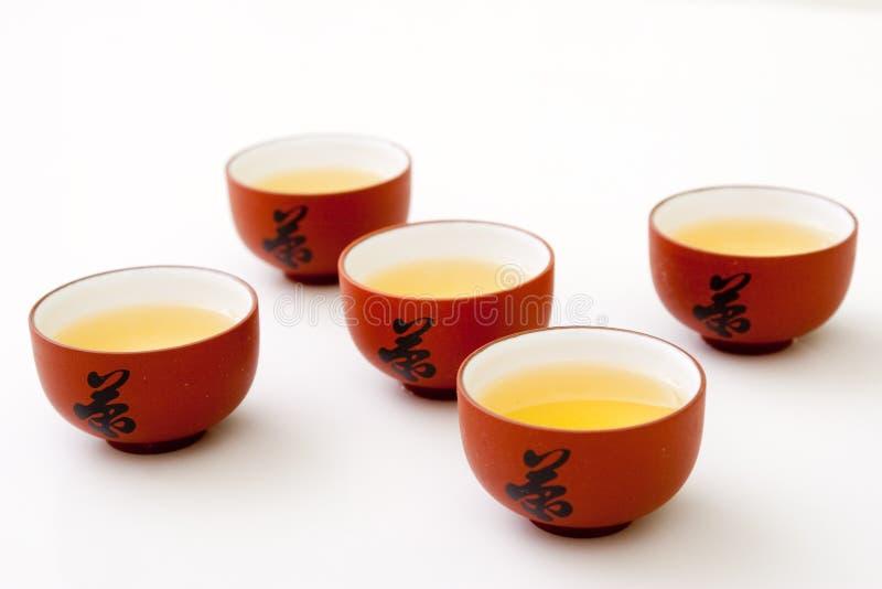 Étude de cuvette de thé photographie stock
