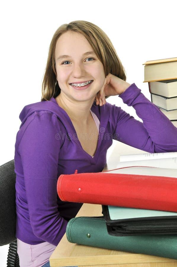 étude de fille d'adolescent image libre de droits