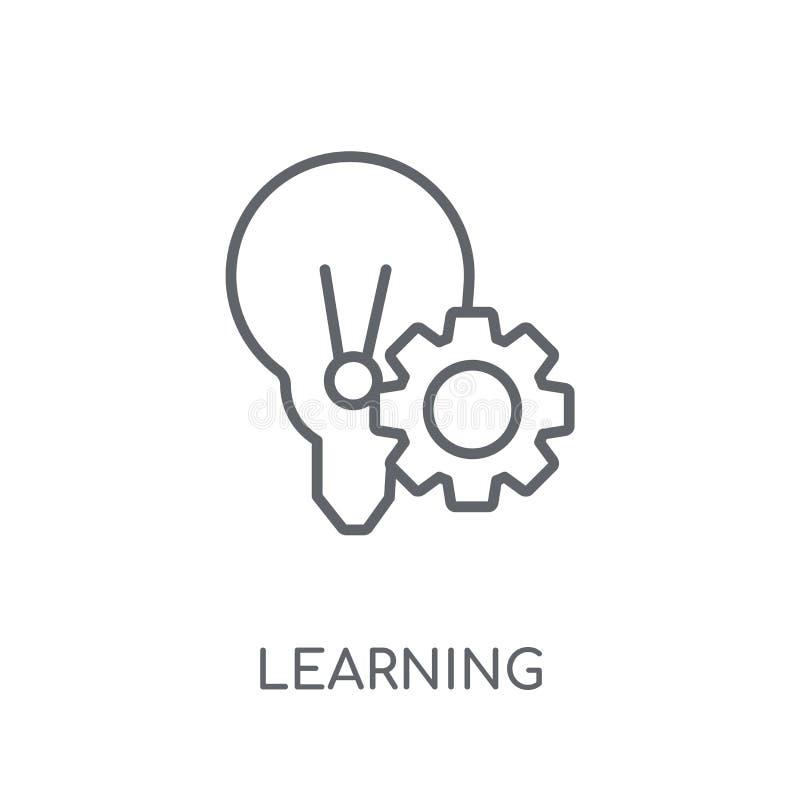 Étude de l'icône linéaire Contour moderne apprenant le concept de logo sur le wh illustration stock