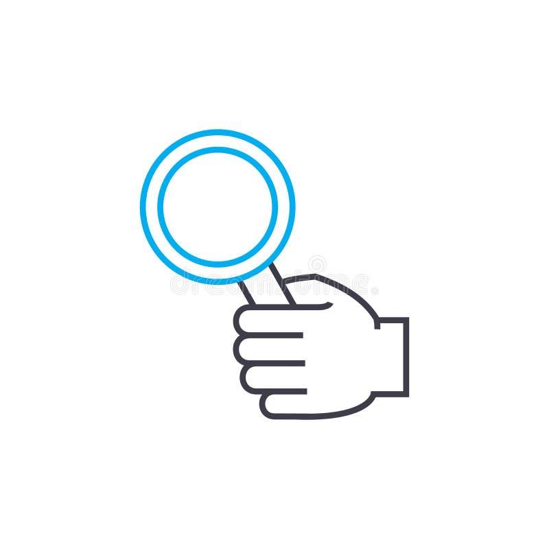 Étude de la ligne mince icône de vecteur de question de course Étude de l'illustration d'ensemble de question, signe linéaire, co illustration de vecteur