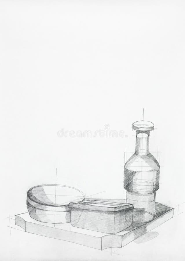 Étude des objets de cuisine illustration stock