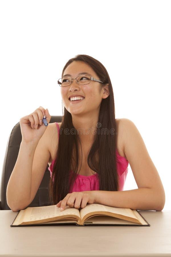 Étude heureuse de sourire photo libre de droits