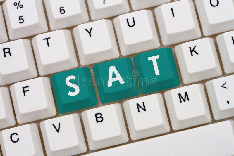 Étude pour votre SAT en ligne images stock