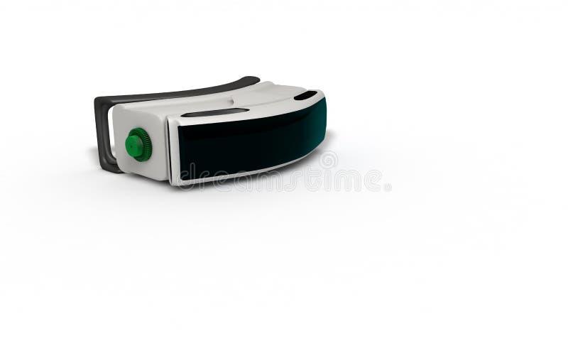 Étude tridimensionnelle de concept en verre de réalité virtuelle illustration de vecteur