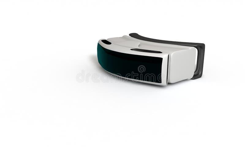 Étude tridimensionnelle de concept en verre de réalité virtuelle illustration stock