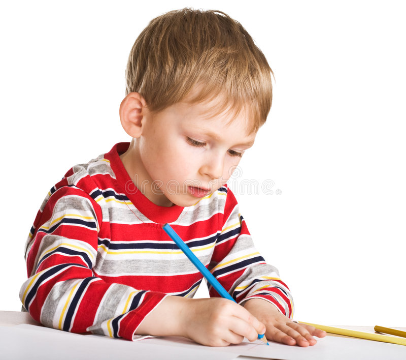 Études d'enfant à dessiner photo stock