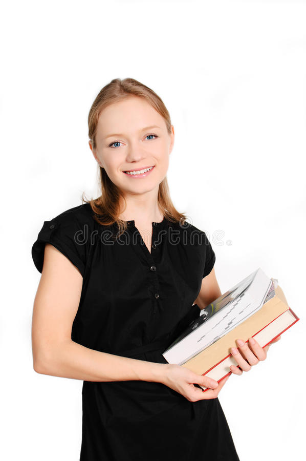 Étudiant avec des livres image stock
