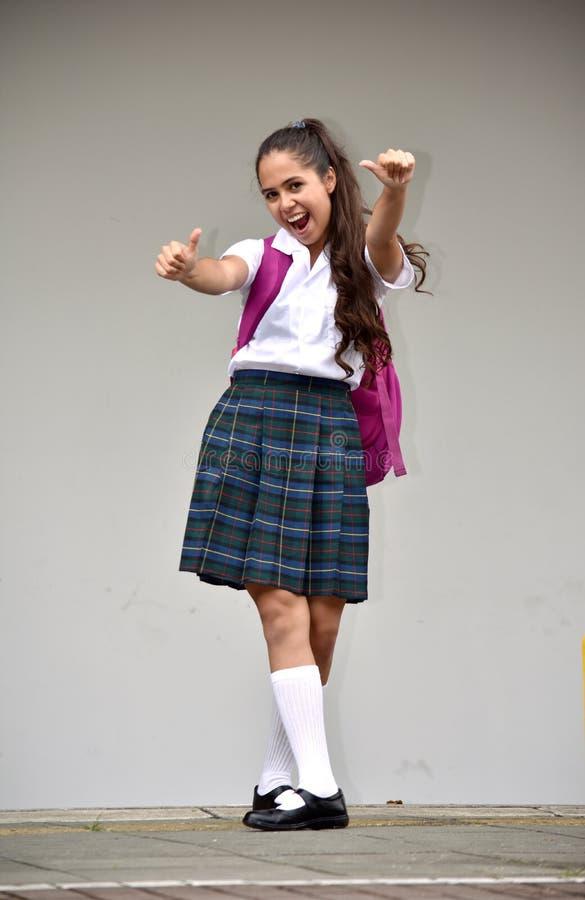 Étudiant comblé Teenager School Girl image libre de droits