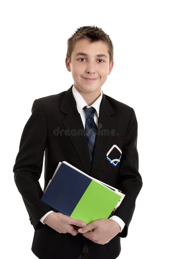 Étudiant d'école avec des manuels image stock