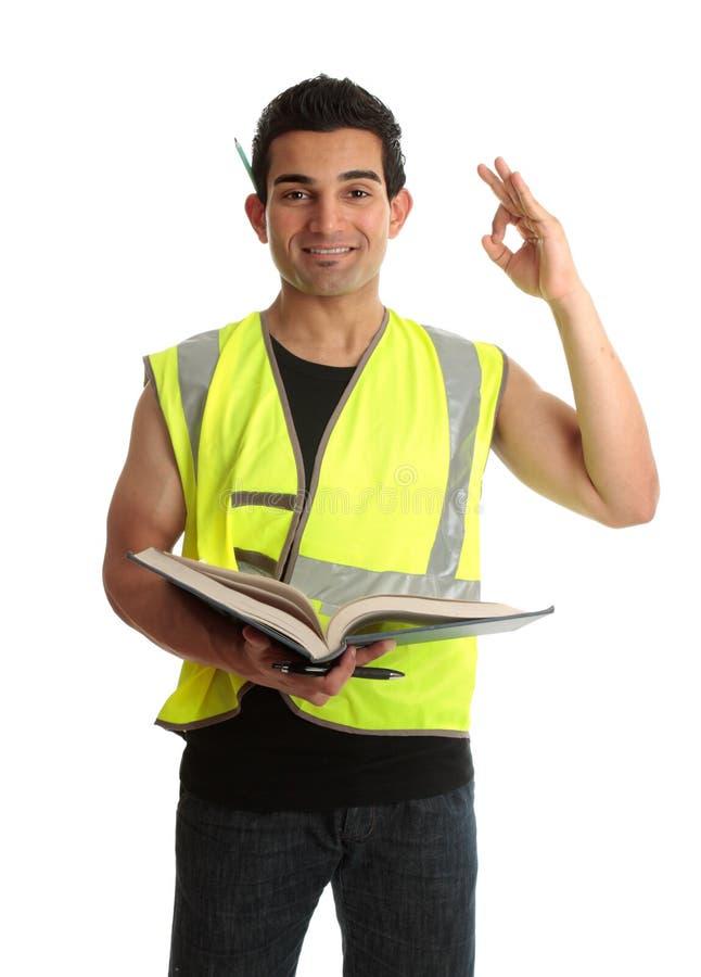 Étudiant d'apprenti de constructeur images libres de droits