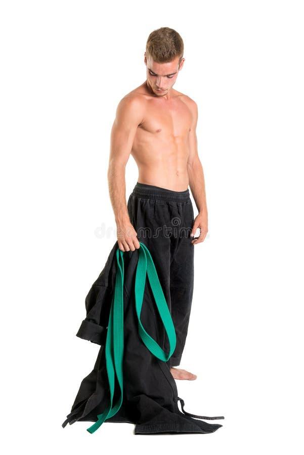 Étudiant d'arts martiaux photo stock