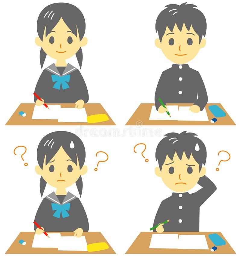 Étudiant dans la classe illustration stock