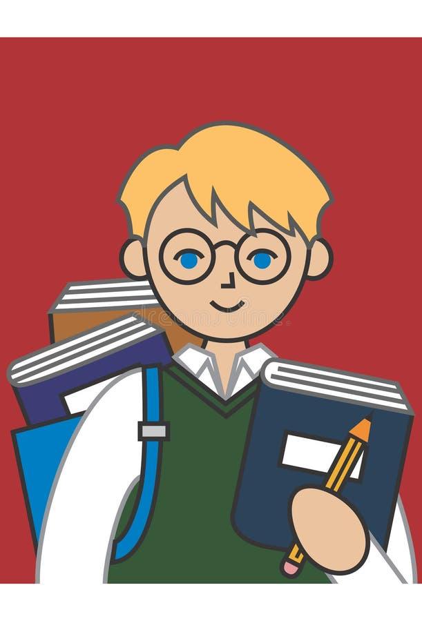 Étudiant de garçon illustration stock
