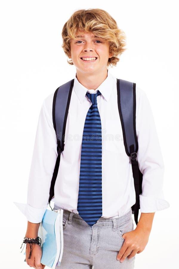 Étudiant de l'adolescence de garçon image stock