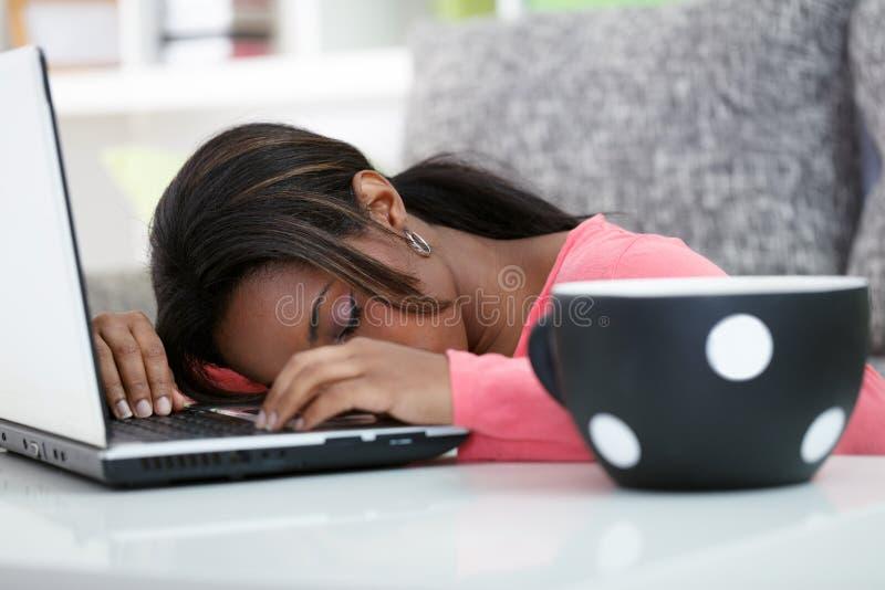 Étudiant de sommeil photos stock
