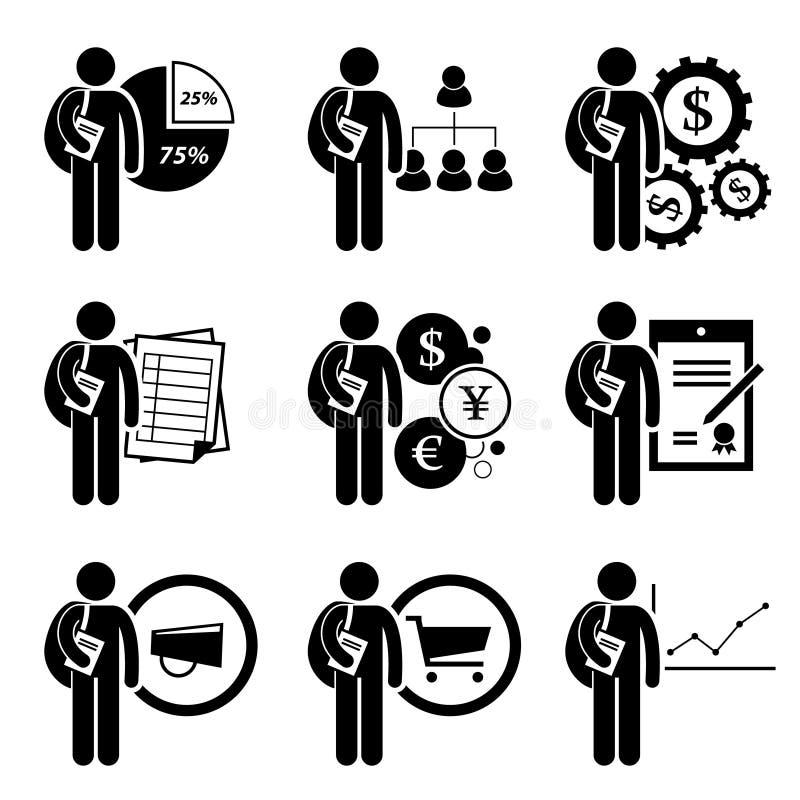 Étudiant Degree dans la gestion d'entreprise illustration stock