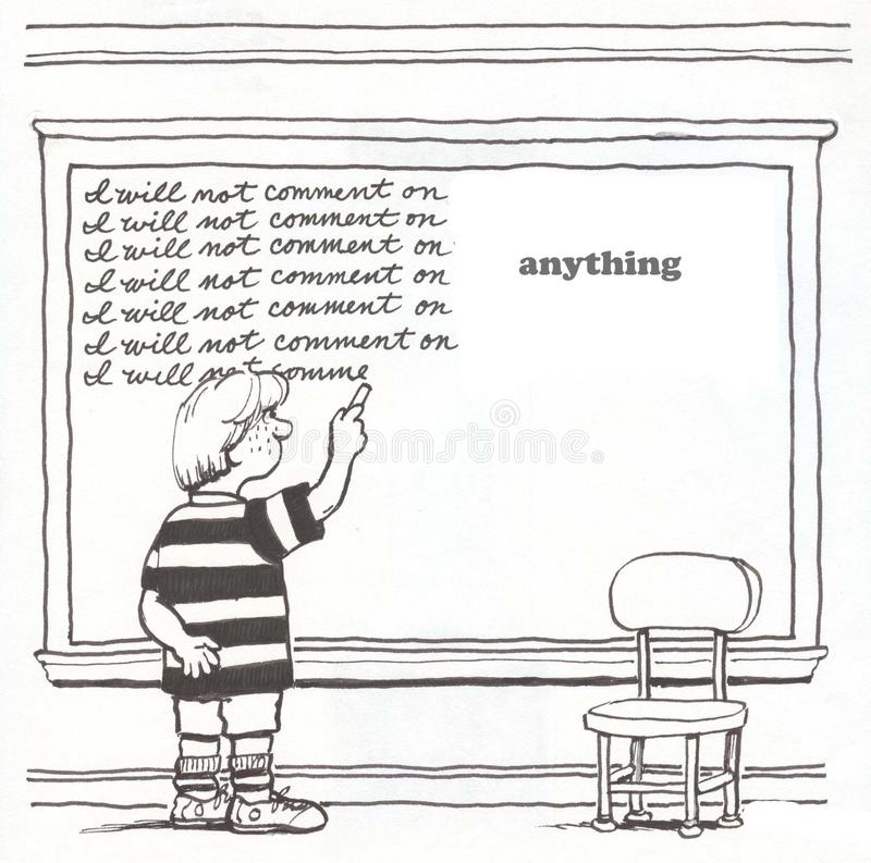 Étudiant disruptif illustration libre de droits