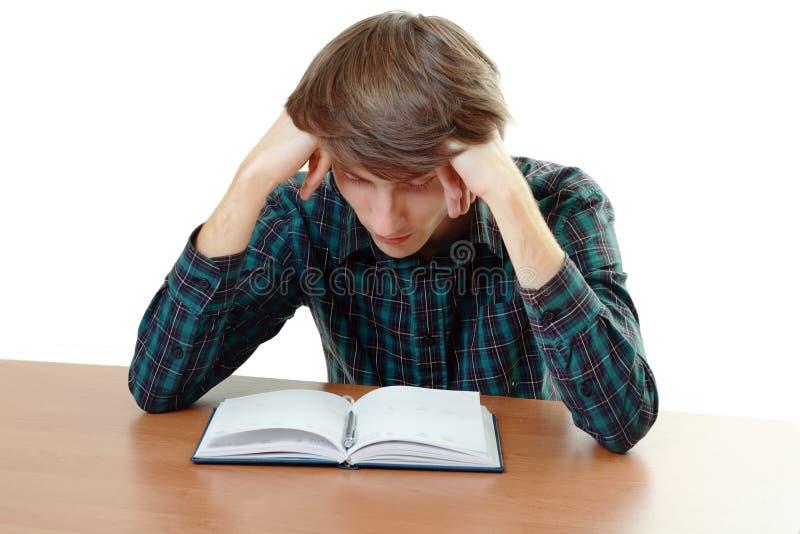 Étudiant ennuyé et fatigué photographie stock