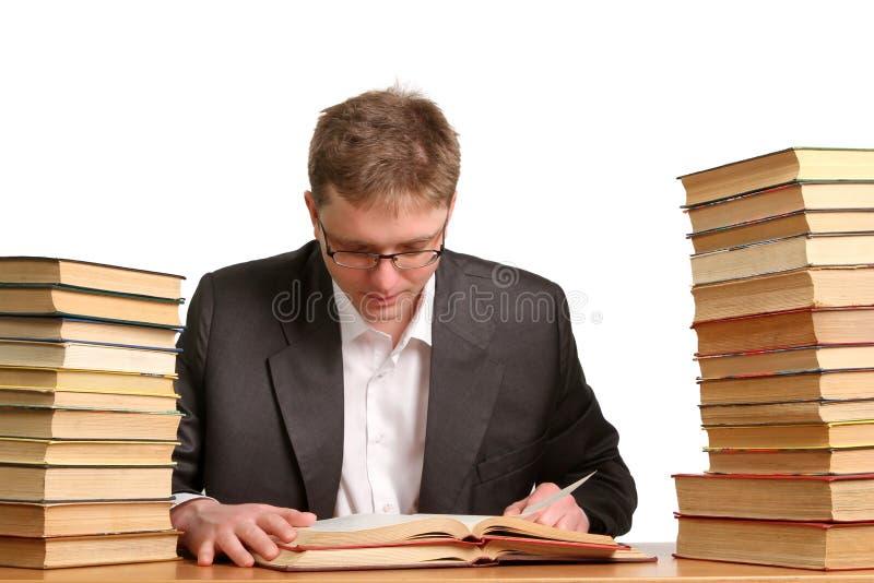 Étudiant ennuyé et fatigué après dur labeur image libre de droits