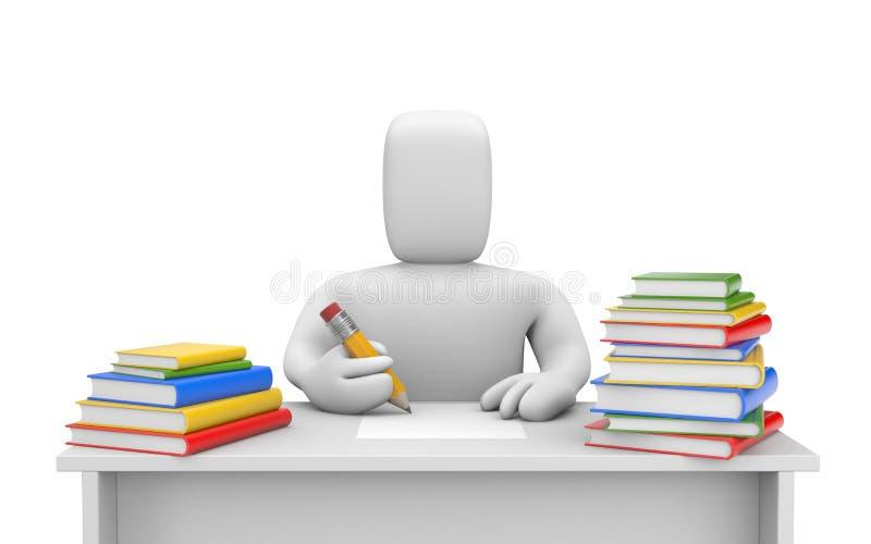 Étudiant et livres illustration libre de droits