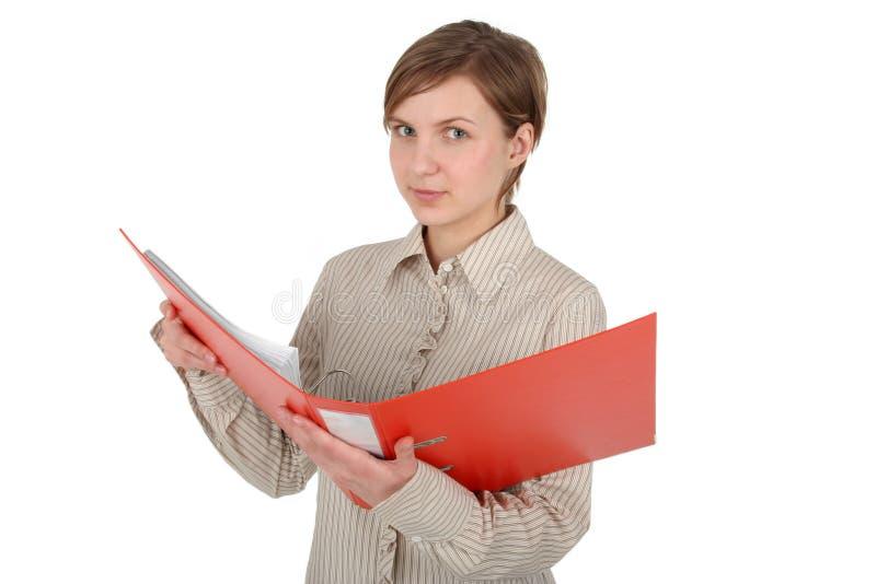 Étudiant féminin retenant un cahier photographie stock