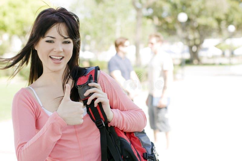 Étudiant heureux image libre de droits