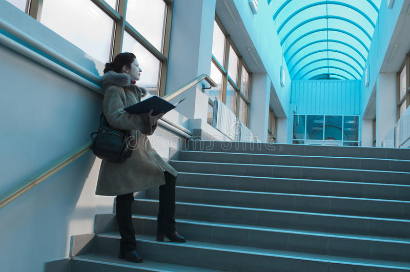 Étudiant léger bleu de hall photos stock