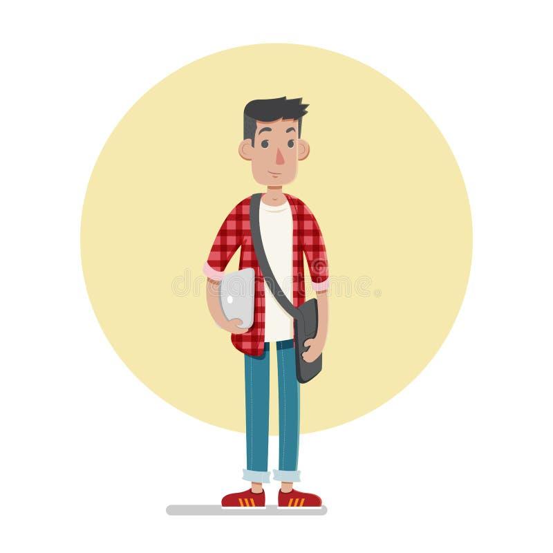 Étudiant mâle illustration de vecteur