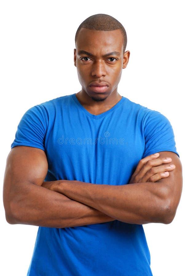 Étudiant mâle sérieux image libre de droits