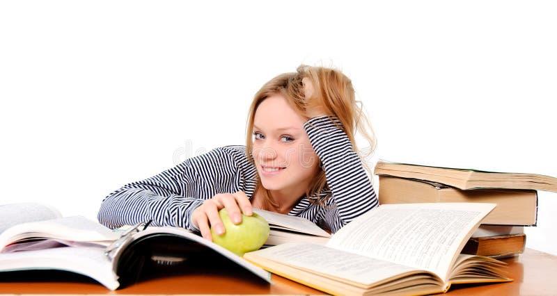 Étudiant se préparant à l'examen photo stock