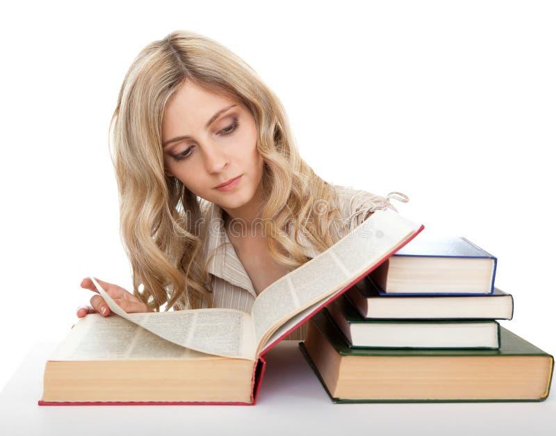 Étudiant se préparant à l'examen. photographie stock