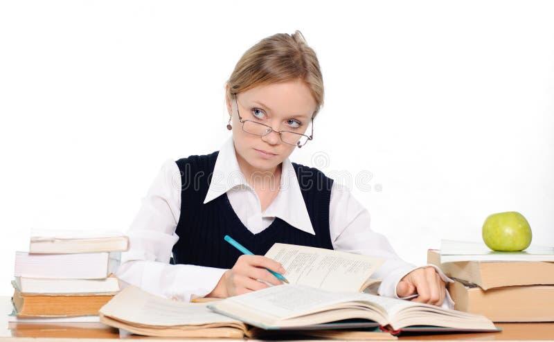 Étudiant se préparant à un examen images stock