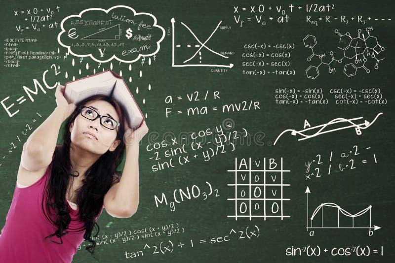 Étudiant universitaire confus image libre de droits