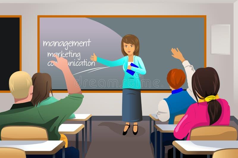 Étudiant universitaire de enseignement de professeur illustration libre de droits