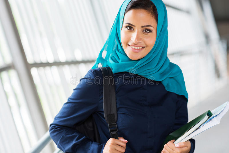 Étudiant universitaire musulman photo stock