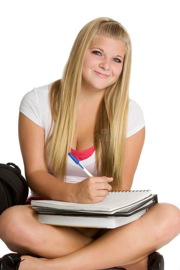 Étudiante de l'adolescence images stock