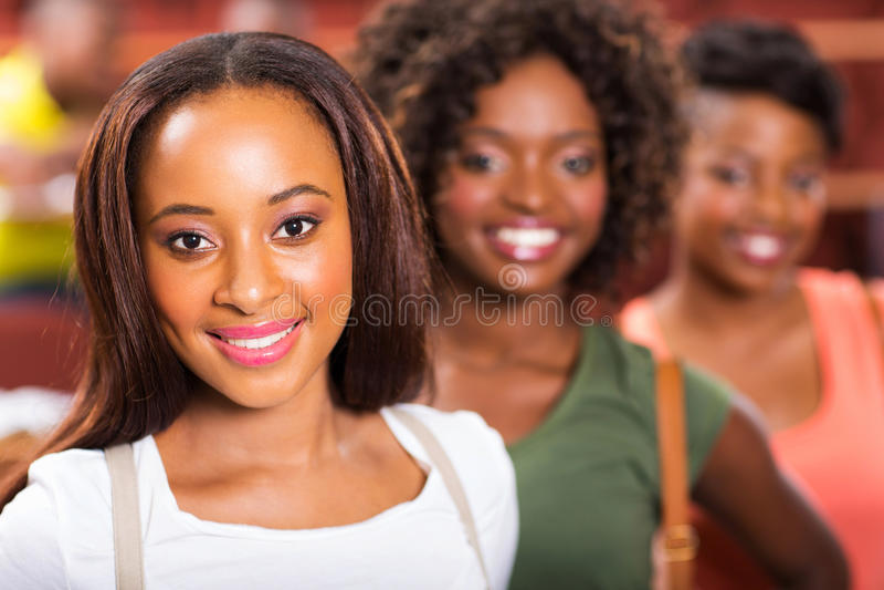 Étudiantes africaines photos stock