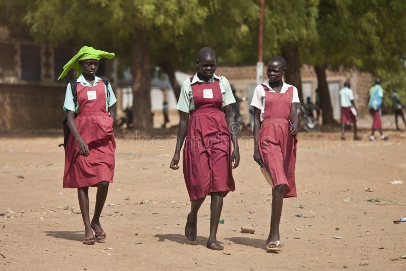 Étudiantes au Soudan du sud photos stock