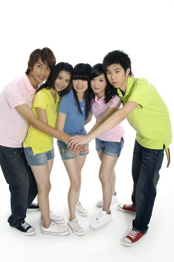étudiants asiatiques jeunes image stock