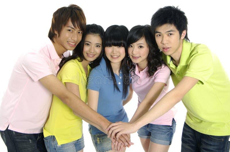 étudiants asiatiques jeunes image libre de droits