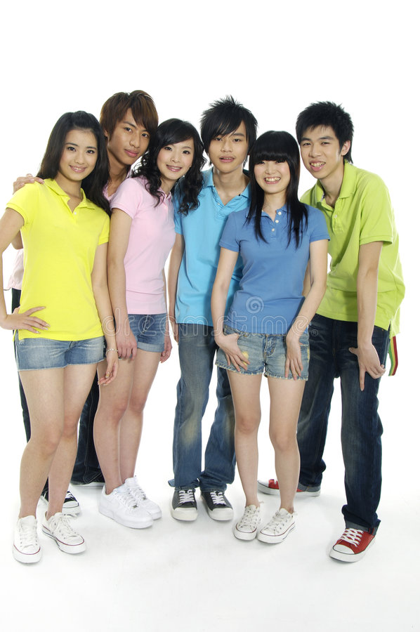 étudiants asiatiques jeunes photos libres de droits