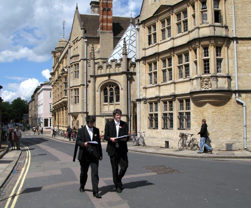 Étudiants d'Université d'Oxford photos libres de droits
