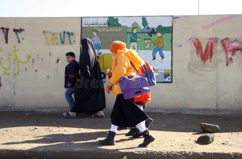 Étudiants dans Kirkuk images libres de droits