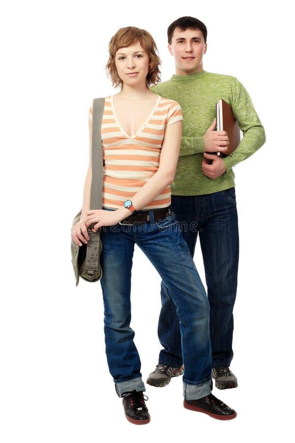 étudiants de couples photos libres de droits