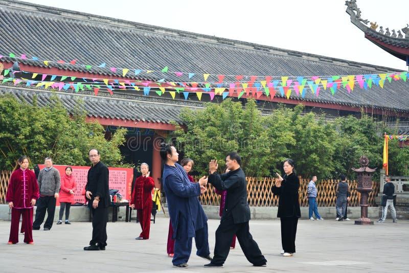 Étudiants de Taijiquan de Chinois photos libres de droits