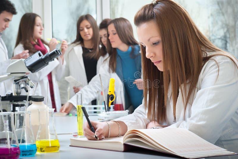 Étudiants en médecine image libre de droits