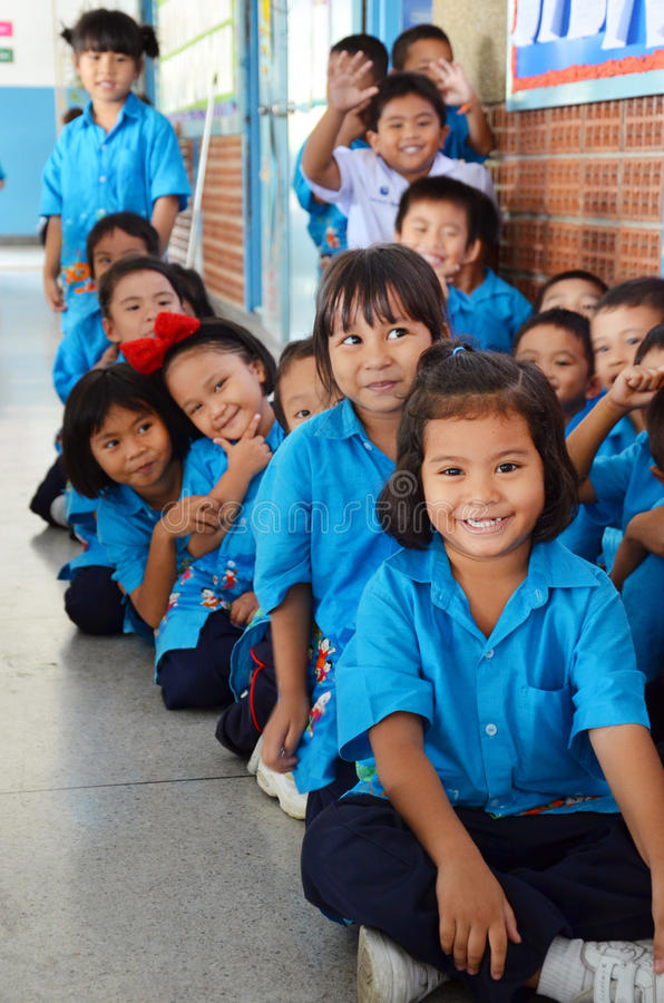 Étudiants en Thaïlande. photo stock